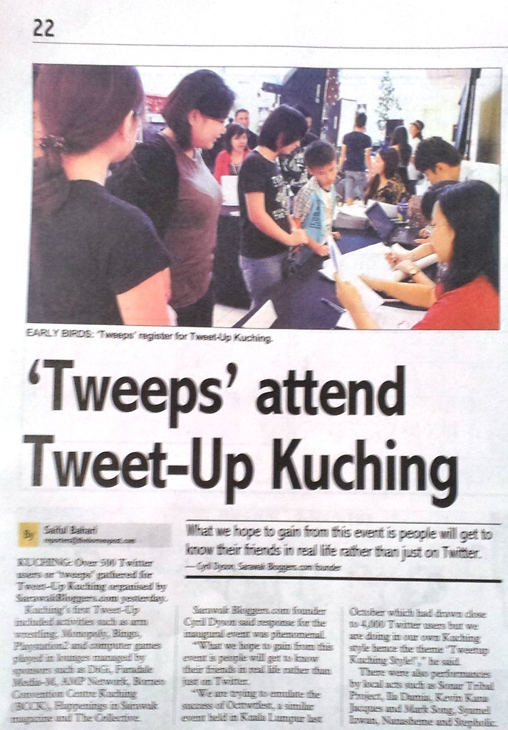 Tweeps attend Tweet-Up Kuching - Borneo Post